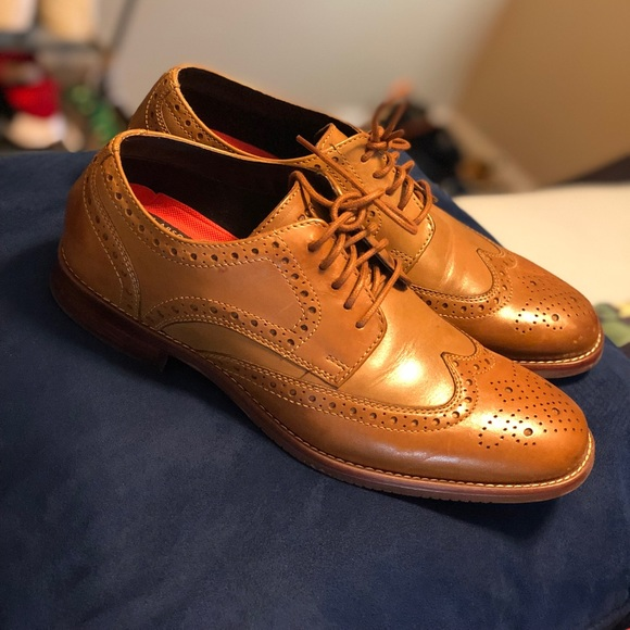 Men Oxford Dress Wingtips Shoes Sz